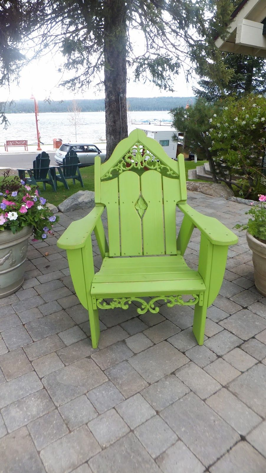 What a beautiful cottage chair and the color is to die for