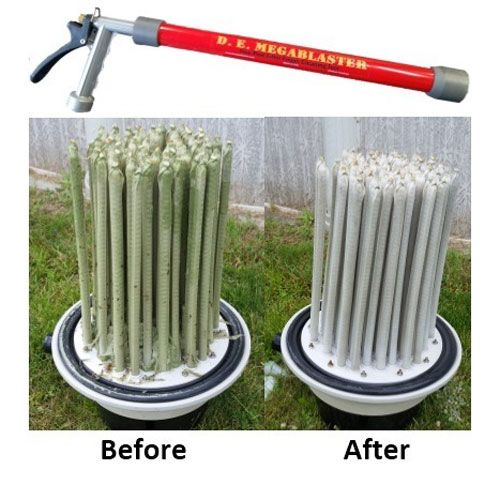 Megablaster D E Filter Finger Cleaning Tool Filter Accessories Pool Filter Cleaner Cleaning Pool Filters Pool Cleaning Tools
