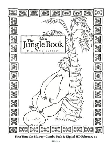 disney the jungle book printable baloo coloring page - Disney Jungle Book Coloring Pages
