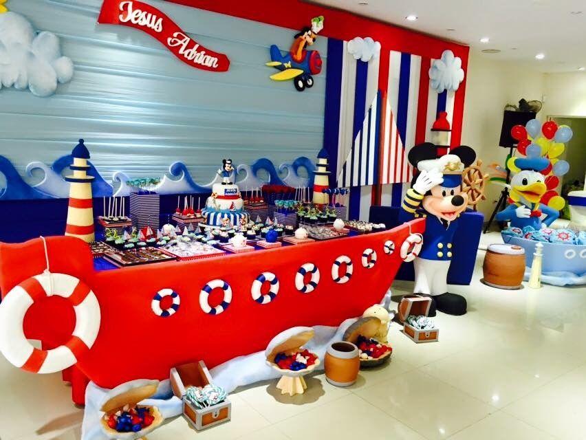 Pin De Silvia Gallegos En Mickey Marinero Cumpleaños Marinero Fiestas De Cumpleaños De Pirata Mickey Marinero