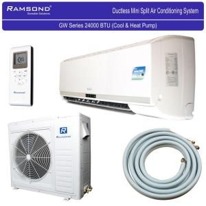 Wall Air Conditioner Home Depot ramsond 24,000 btu 2 ton ductless mini split air conditioner and