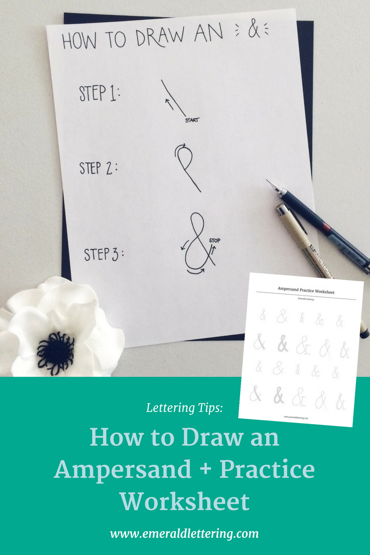 Lettering Tips: How to Draw an Ampersand + Free Practice Worksheet ...