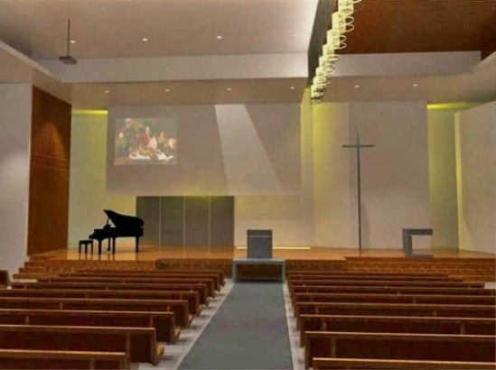 Perfect Cahrming Altar Church Interior Design Ideas