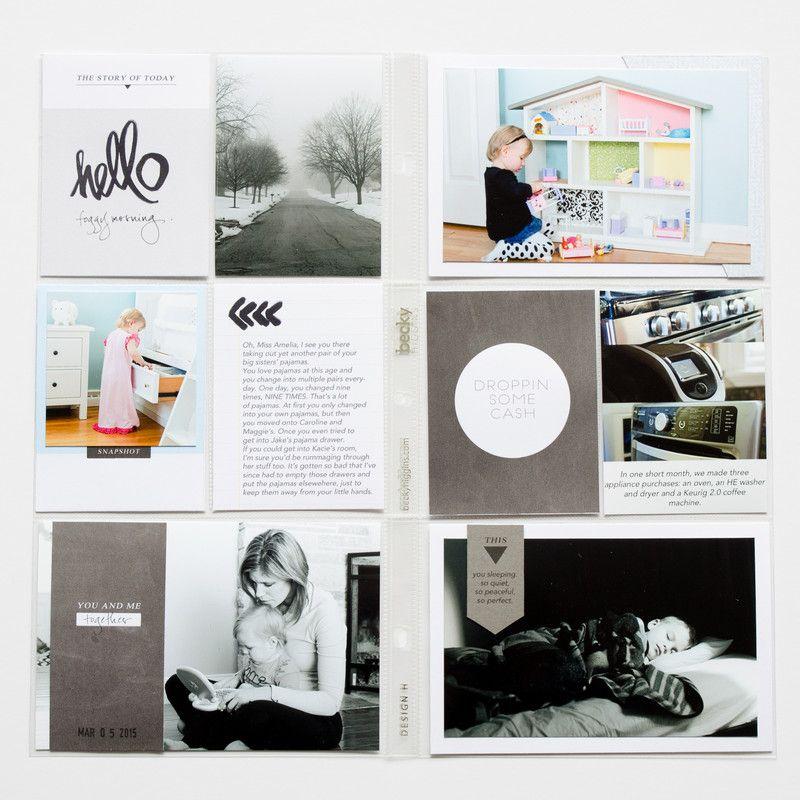Week 10   Project Life by greyhouselane at @studio_calico #studiocalico #projectlife #scrapbooking