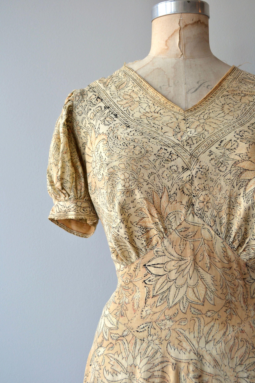 Andhra dress vintage s indian cotton dress long s block