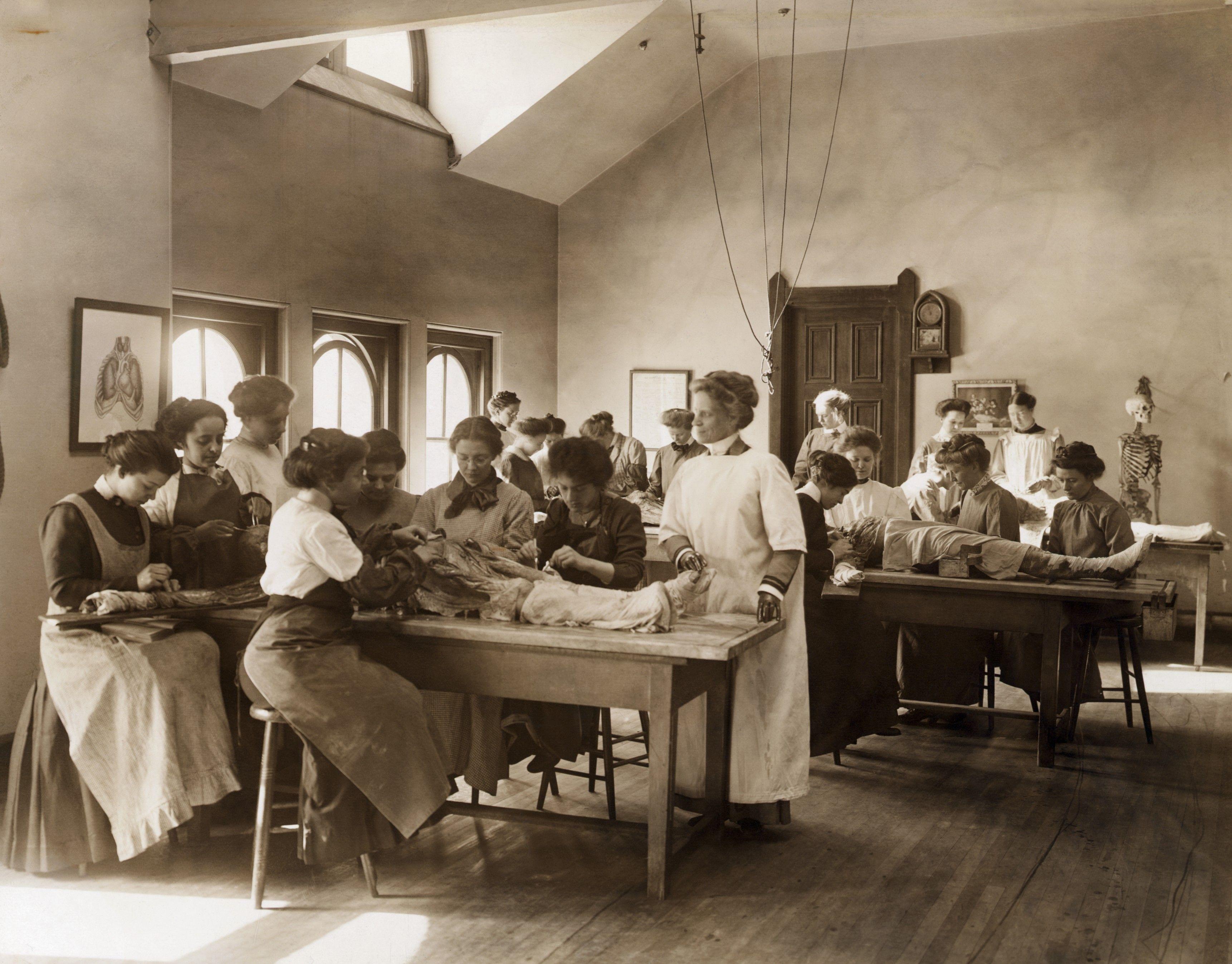 Anatomy Dissection in Women\'s Medical College, Philadelphia circa ...