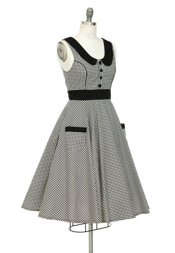 Summer Dress Holiday Dress Pin Up Swing Dress Vintage Inspired Dress