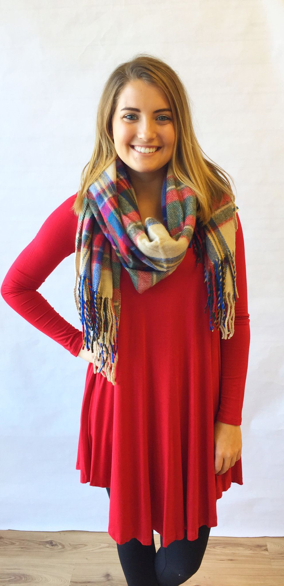 Long Sleeve Flowy Tunic-Red - The Style Bar Boutique  - 2