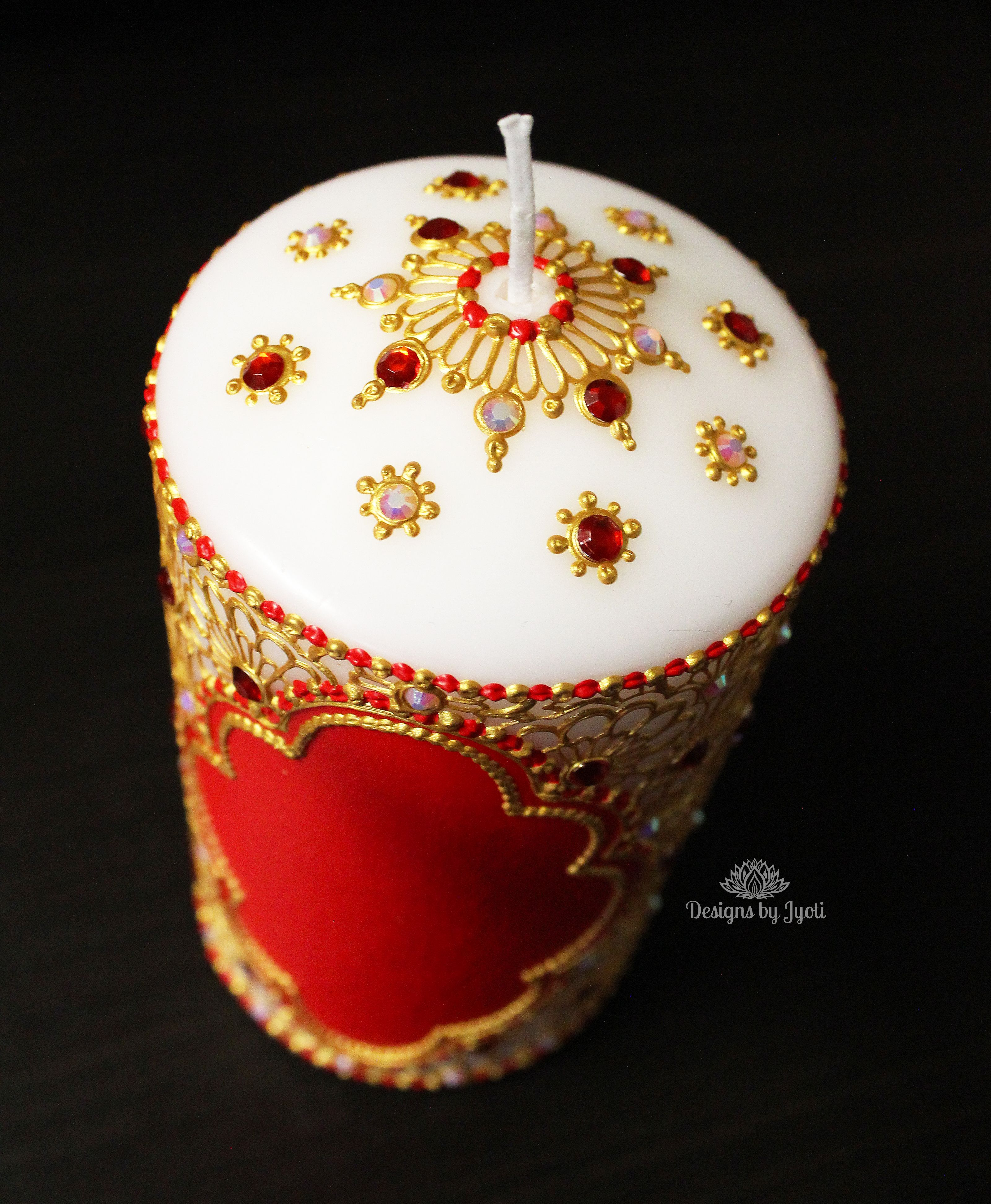 Floral Henna Thaal Set Henna Inspired Candles For Home Decor