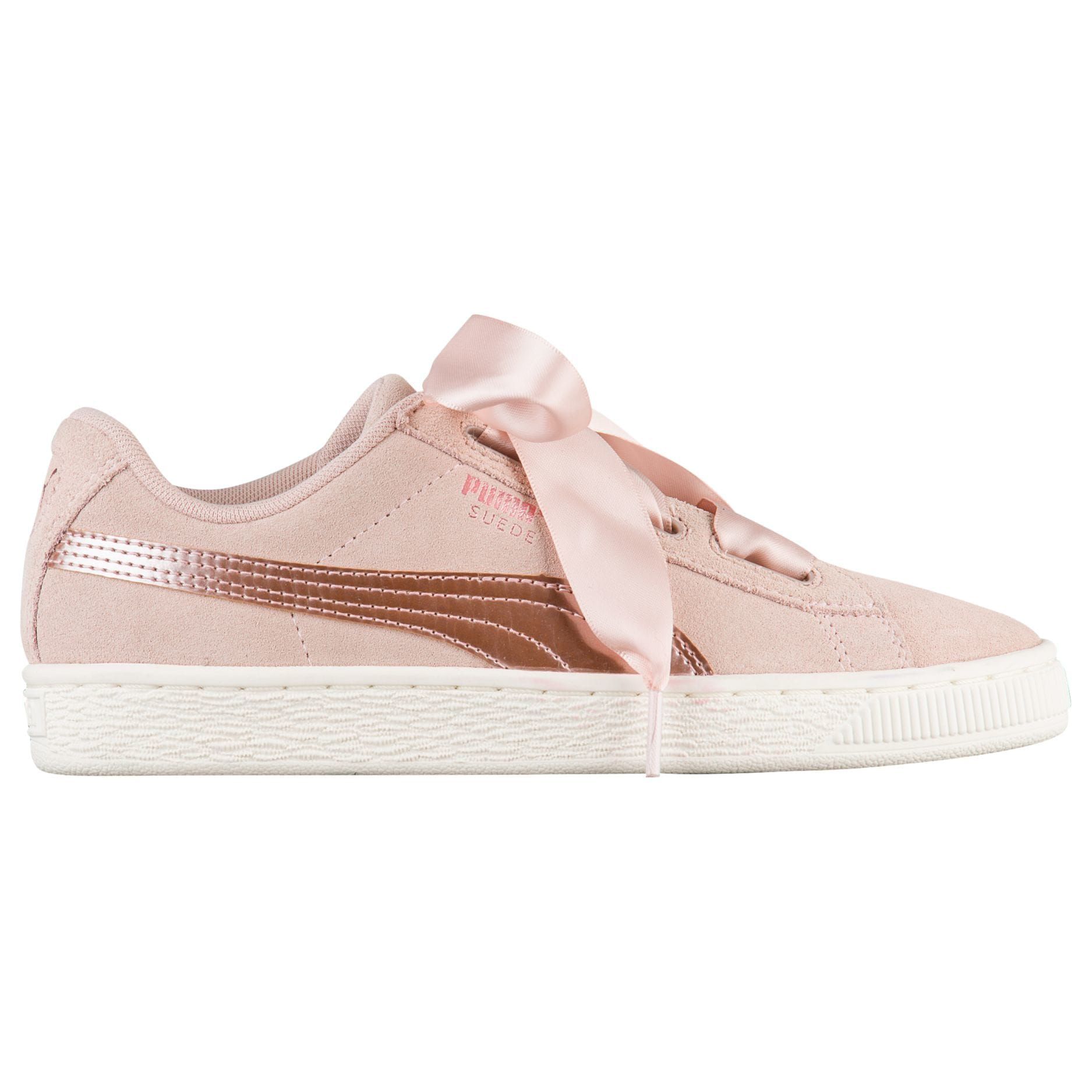 19fad37c06e PUMA Suede Heart - Girls  Grade School - Basketball - Shoes - Rose  Gold Cameo Rose