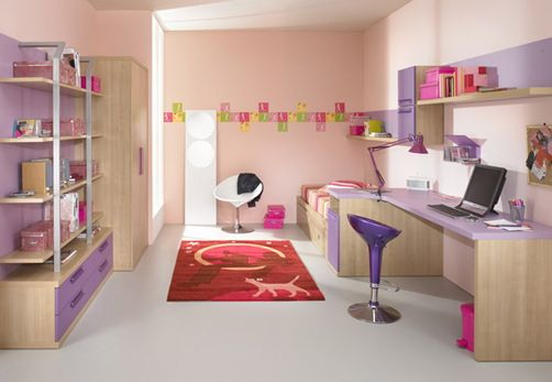A little girl would even enjoy studying in there rooms
