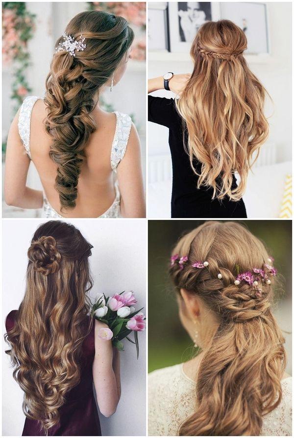 Half Up Half Down Half Updo Hairstyles For Wedding Bridesmaids Ideas Bridesmaid Hairtyle Half Updo Hairstyles Bridesmaid Hair Wedding Hairstyles Updo