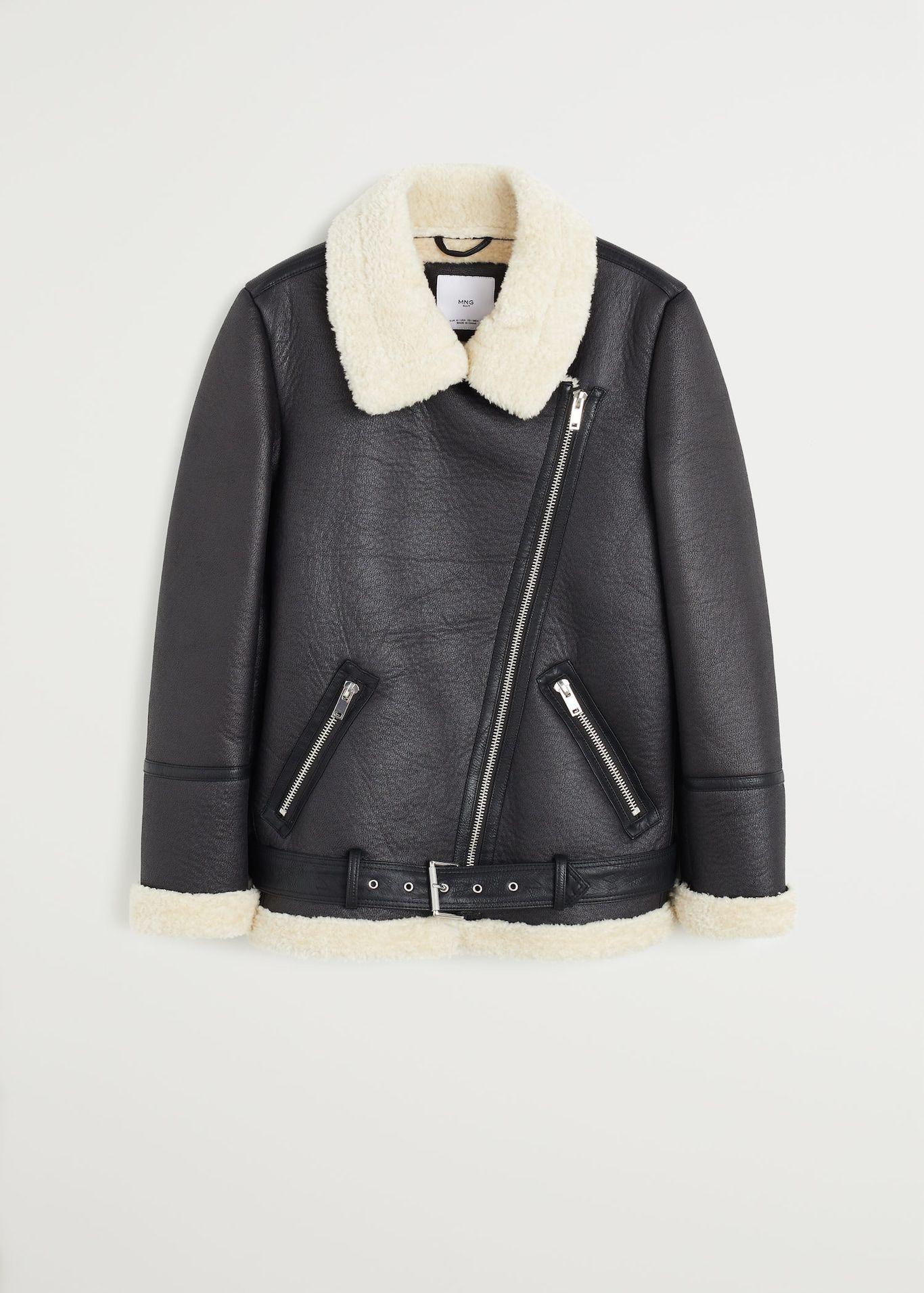 Faux shearlinglined jacket Woman Jackets for women
