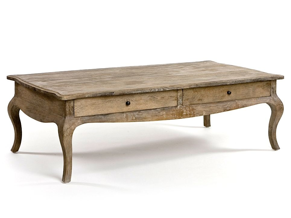 French Country Coffee Table With Shelf Tables