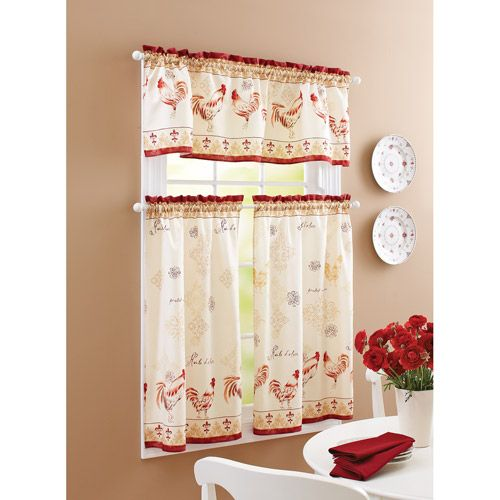 Better Homes And Gardens Rooster Tier Curtain And Valance Set