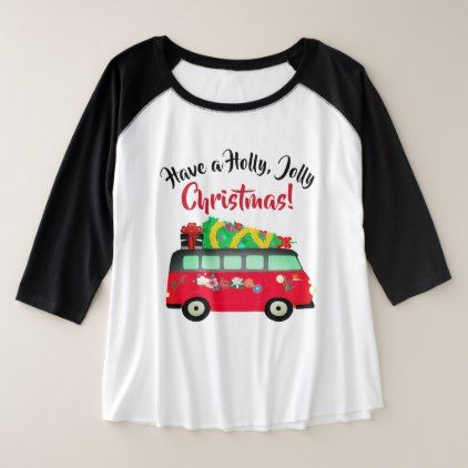 78d12582a Christmas Tree Delivery Van Curvy Size T-Shirt - diy individual customized  design unique ideas