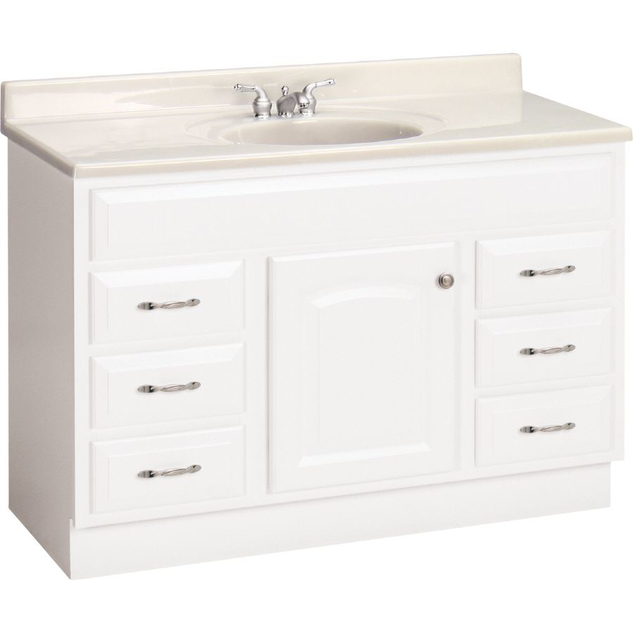 "Shop Estatersi 48"" White Elegance Traditional Bath Vanity At Glamorous Shop Bathroom Vanities Decorating Inspiration"