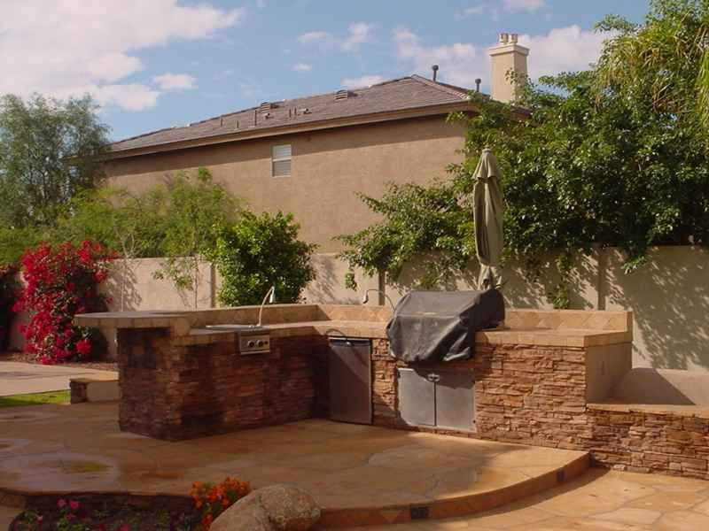 Outdoor Kitchen Ideas  Arizona Landscaping Grilling Patio Stunning Outdoor Kitchens And Patios Designs Inspiration Design