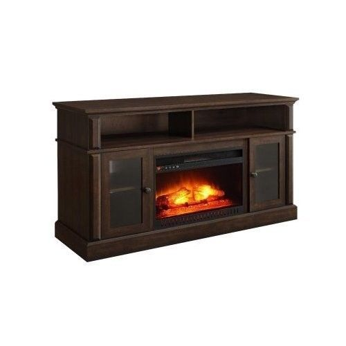Electric Fireplace Tv Stand Mount Large Lcd Screen Bedroom Over