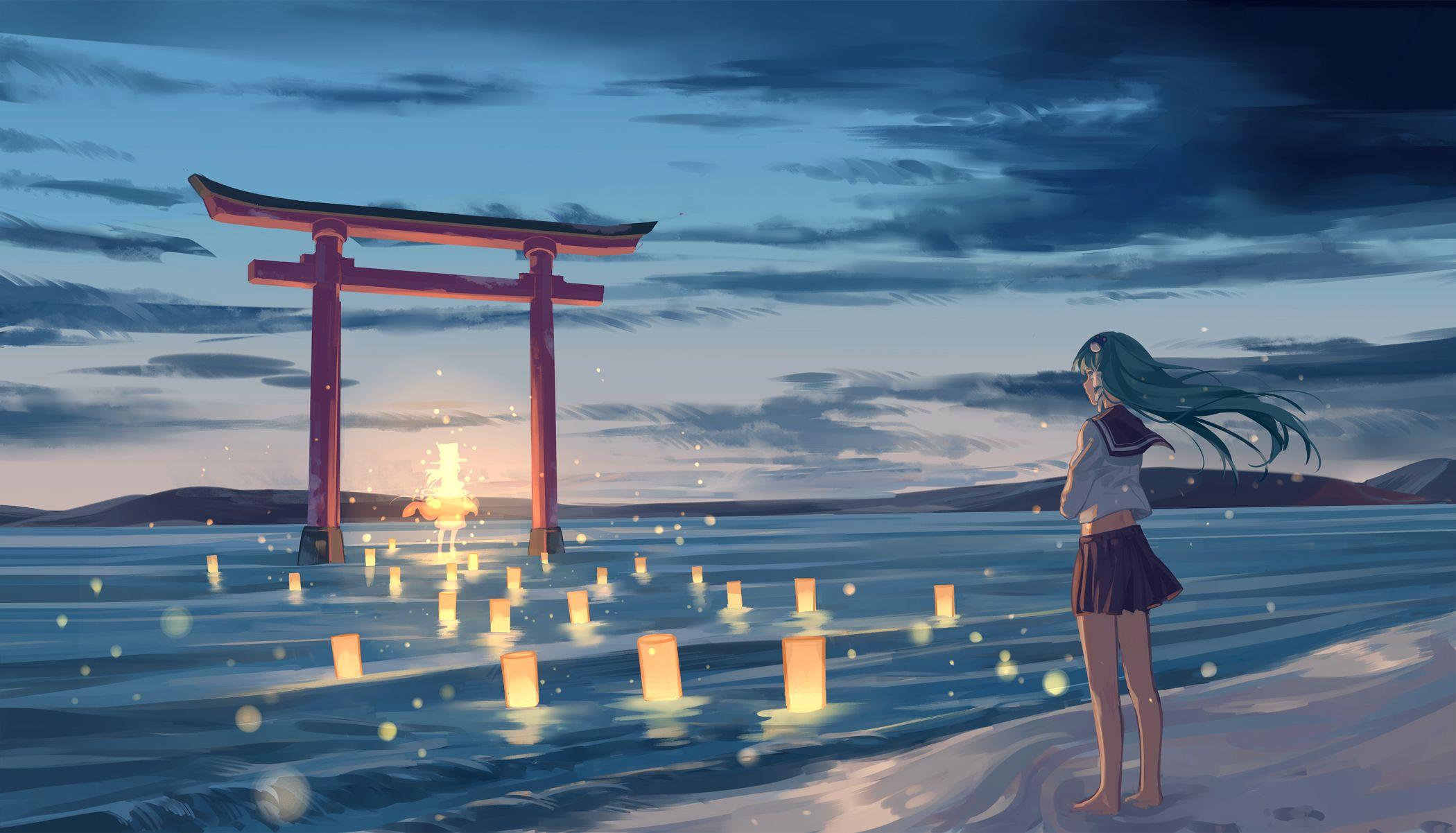 Anime Beach Wallpaper 21001202 Anime Scenery Wallpaper Anime Scenery Anime Life