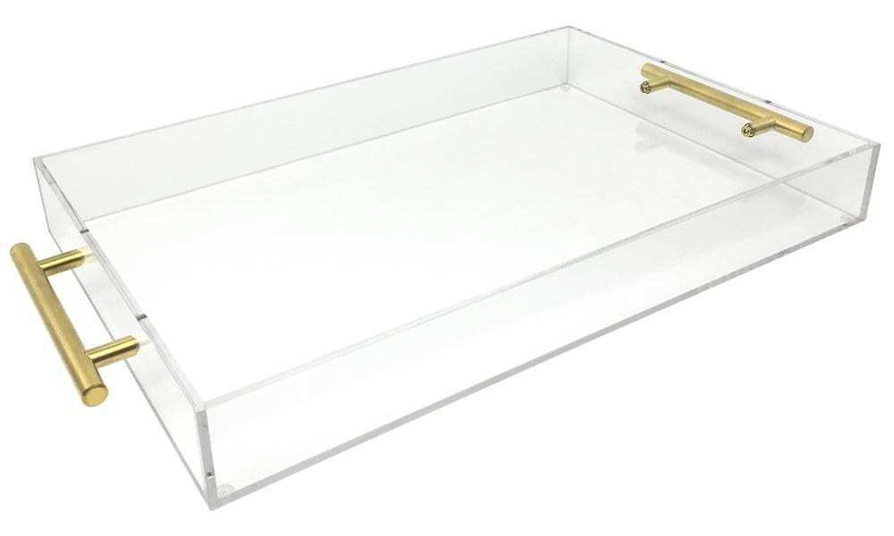 Account Suspended   Acrylic serving trays. Gold handles. Acrylic tray