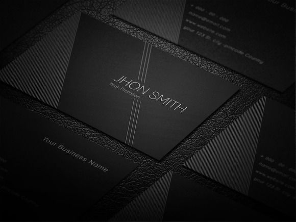 Creative Black Business Card by Awns Creators on @creativemarket - creatives buro design adobe