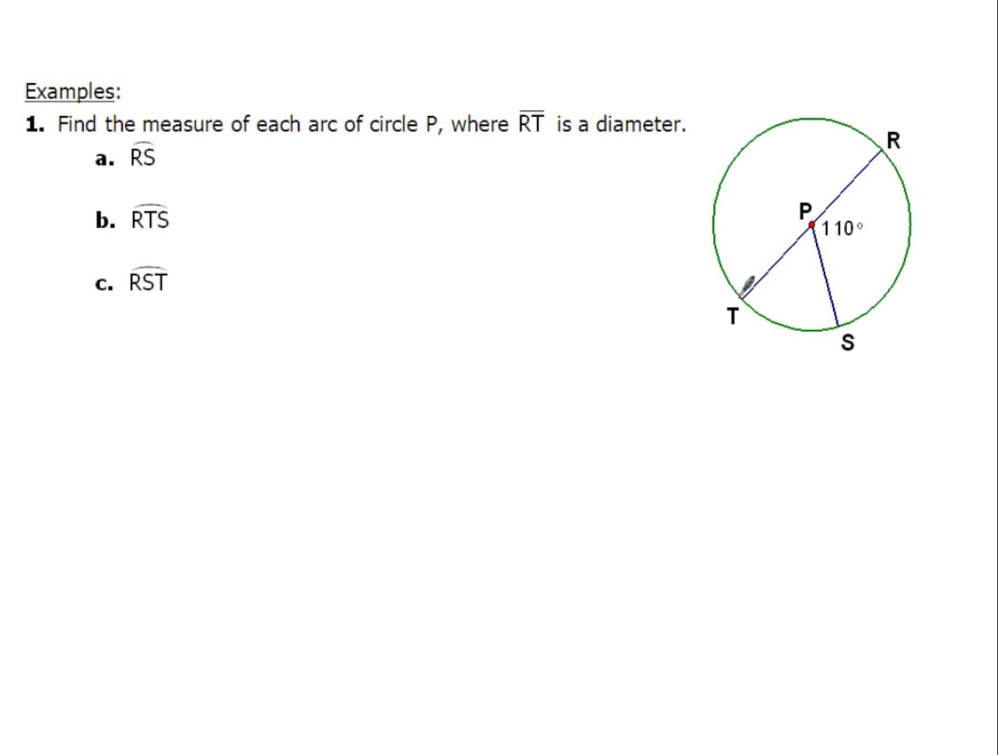 10 2 And 10 4 Finding Arc Measures And Inscribed Angles