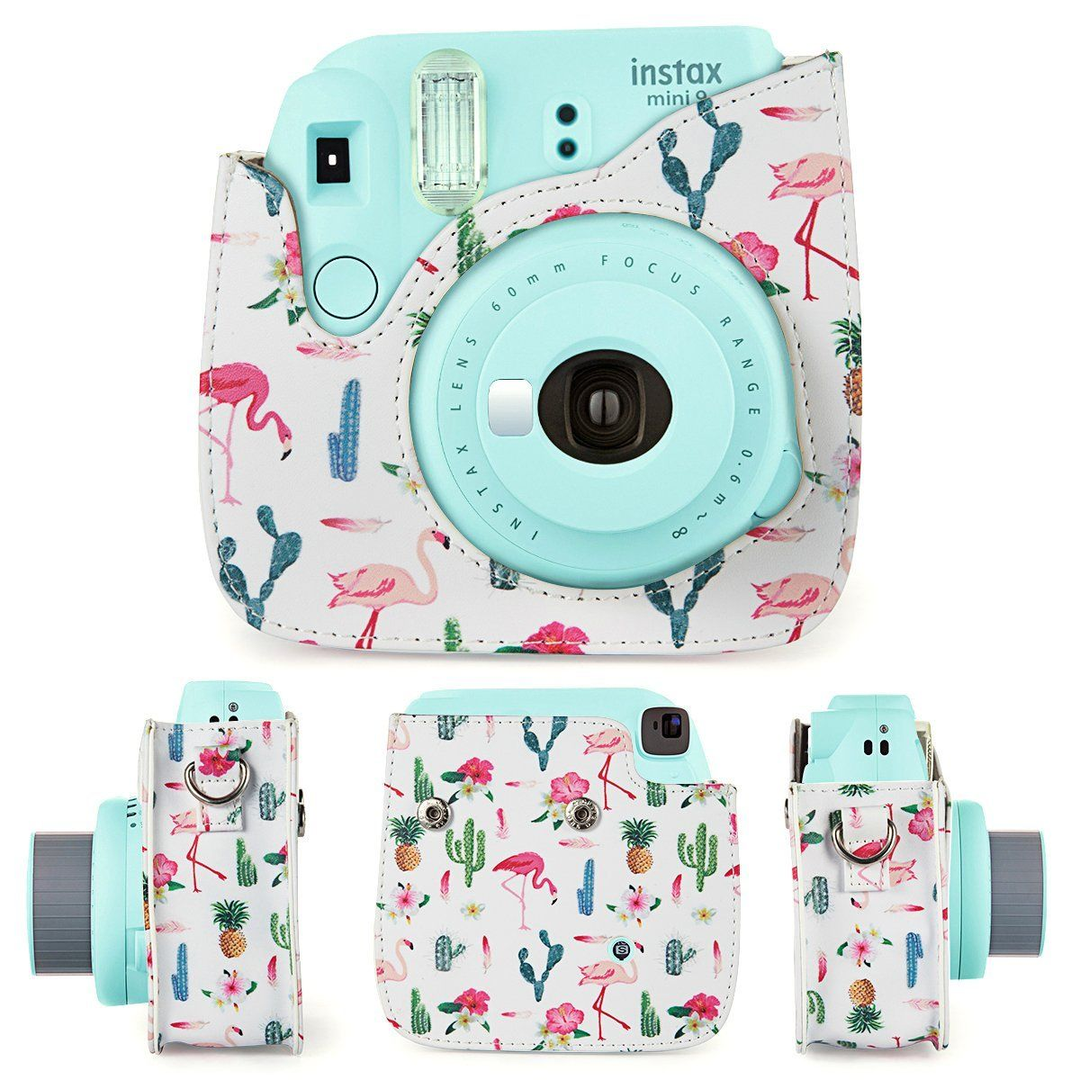 Amazon Com Caiul Groovy Pu Leather Case Bag For Instax Mini 8 8