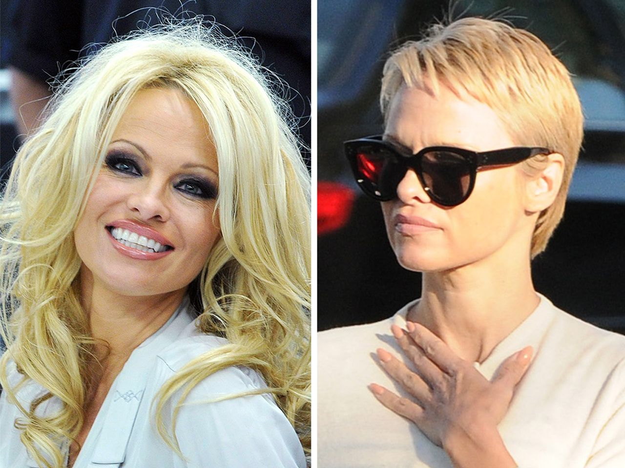 pamela anderson chops 'baywatch' hair into pixie cut in 2019 | hair