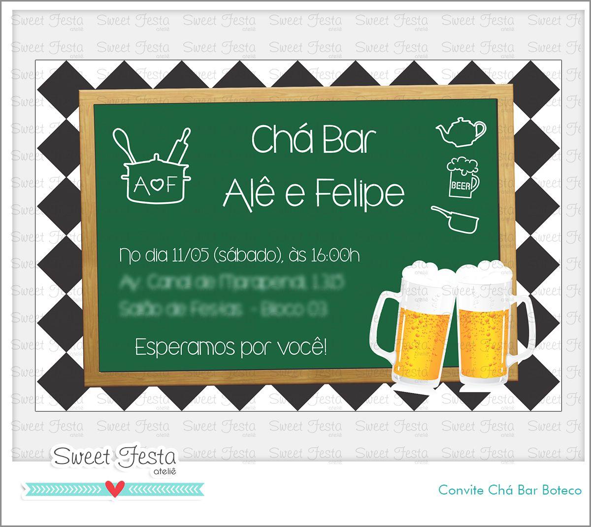 Convite Digital Chá Bar Boteco Convite Digital Chá Bar Boteco