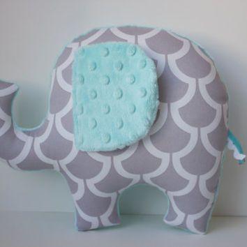 Modern elephant pillow pale aqua blue grey gray nursery decor baby modern elephant pillow pale aqua blue grey gray nursery decor baby shower gift negle Gallery