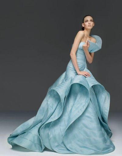Atelier Versace Blue wedding gown #weddings #bridal expos #bridesclub