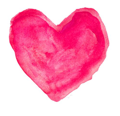 Red Heart Print 8x10 Watercolor Print Red Nursery Decor Red Wall Decor Red Red Hearts Art Watercolor Heart Heart Art