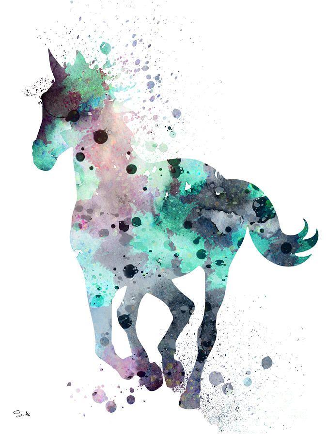 Horse 7 By Watercolor Girl Tumblr Wallpaper Desenhos Kawaii