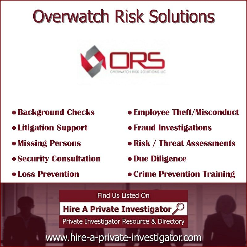 Overwatch Risk Solutions Top Private Investigator In Tallahassee