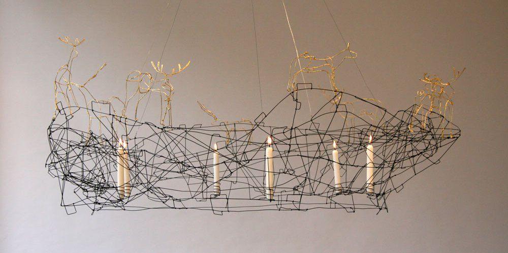 Wire chandelier pocket lighting pinterest chandeliers lamp wire chandelier aloadofball Image collections