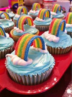 Rainbow cupcake - great children's party idea - especially for Cloud Babies fans!