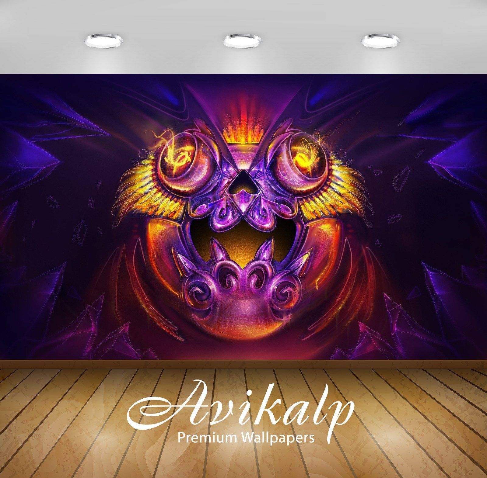 Avikalp Exclusive Awi4314 Fire Monster Full Hd Wallpapers For Living Room Hall Kids Room Kitchen 3dwallpap Full Hd Wallpaper Wallpaper 3d Wallpaper Ceiling