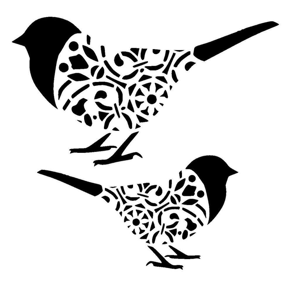 Undefined Bird Stencil Stencil Crafts Stencils Printables