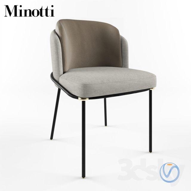 Fil Noir Minotti Furniture Dining Chairs