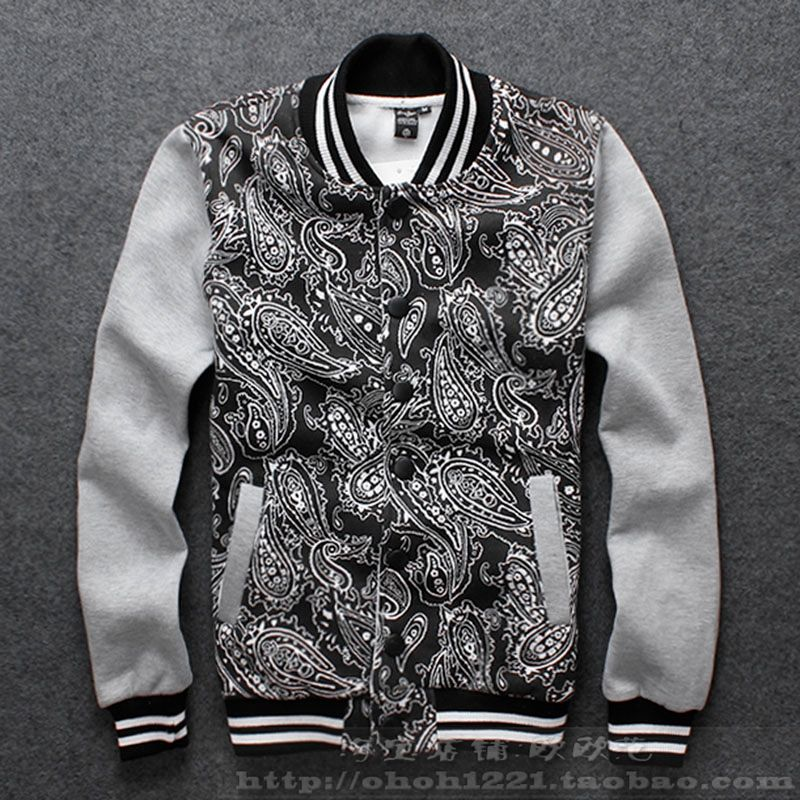 black and white print men clothes new fashion autumn and