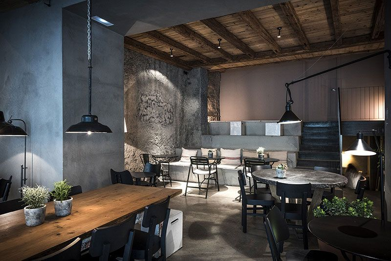 The awesome interiors of new gats restaurant in barcelona interior design home also spain rh pinterest