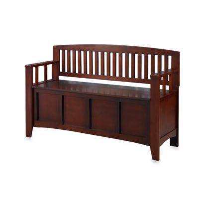 Phenomenal Buy Linon Home Annette Storage Bench From Bed Bath Beyond Machost Co Dining Chair Design Ideas Machostcouk