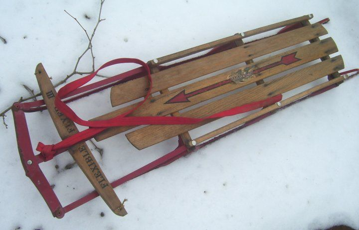 Flexible Flyer Iii Sled From 1960s
