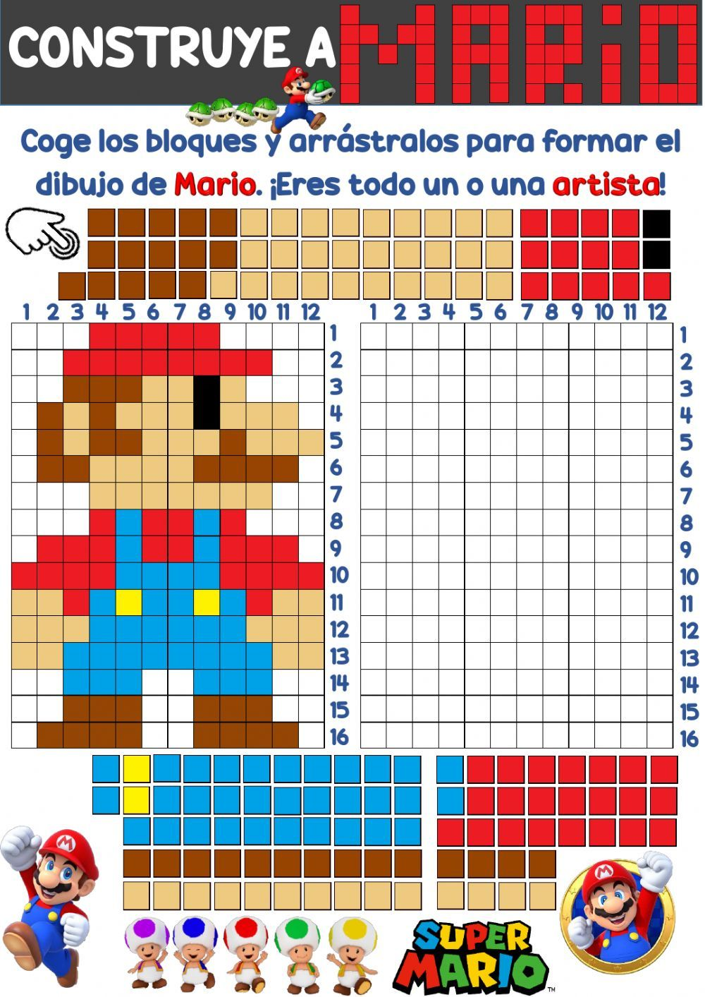 Coordenadas Online Worksheet For Educacion Primaria You Can Do The Exercises Online Or Download The Works English Lessons For Kids Mario Bros Party Worksheets [ 1413 x 1000 Pixel ]