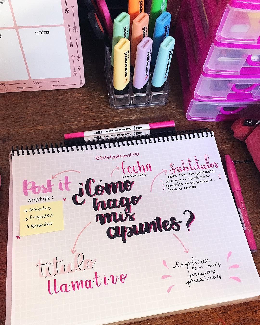 """Derecho on Instagram: """"Último día #febreroconlanegra 💗 COMO HAGO MIS APUNTES . Segunda foto: ejemplo de apunte""""  #study #escuela #apuntes #notes #school #estudiar"""