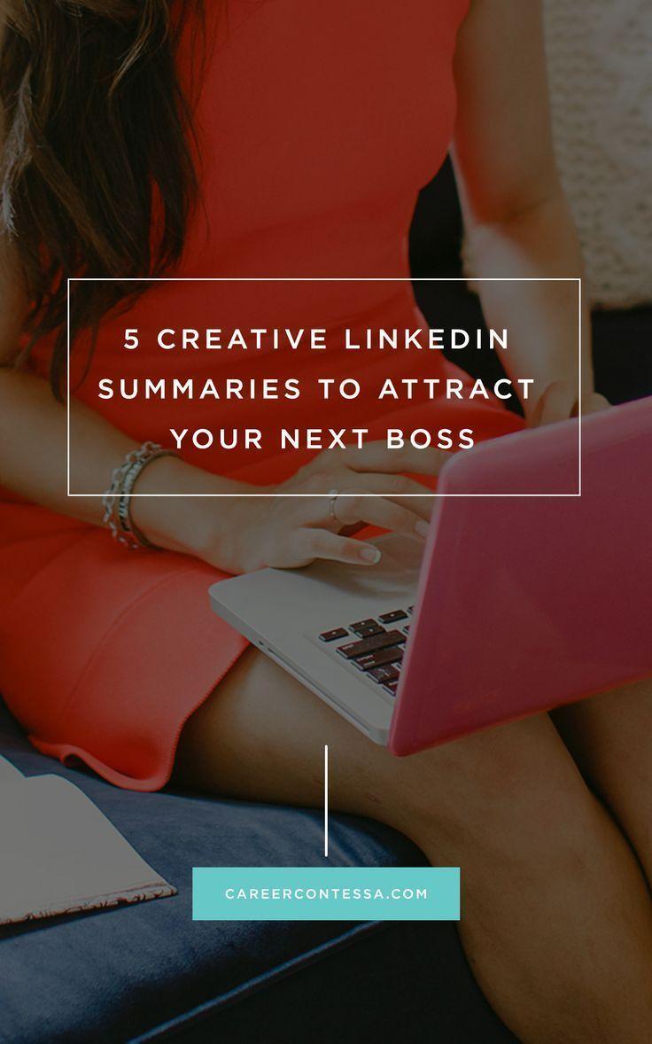 creative linkedin profile summaries to attract your next boss