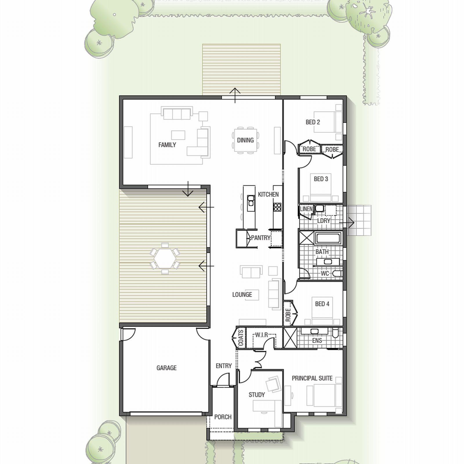 Sekisui House - Single storey Kamala home design with two outdoor ...