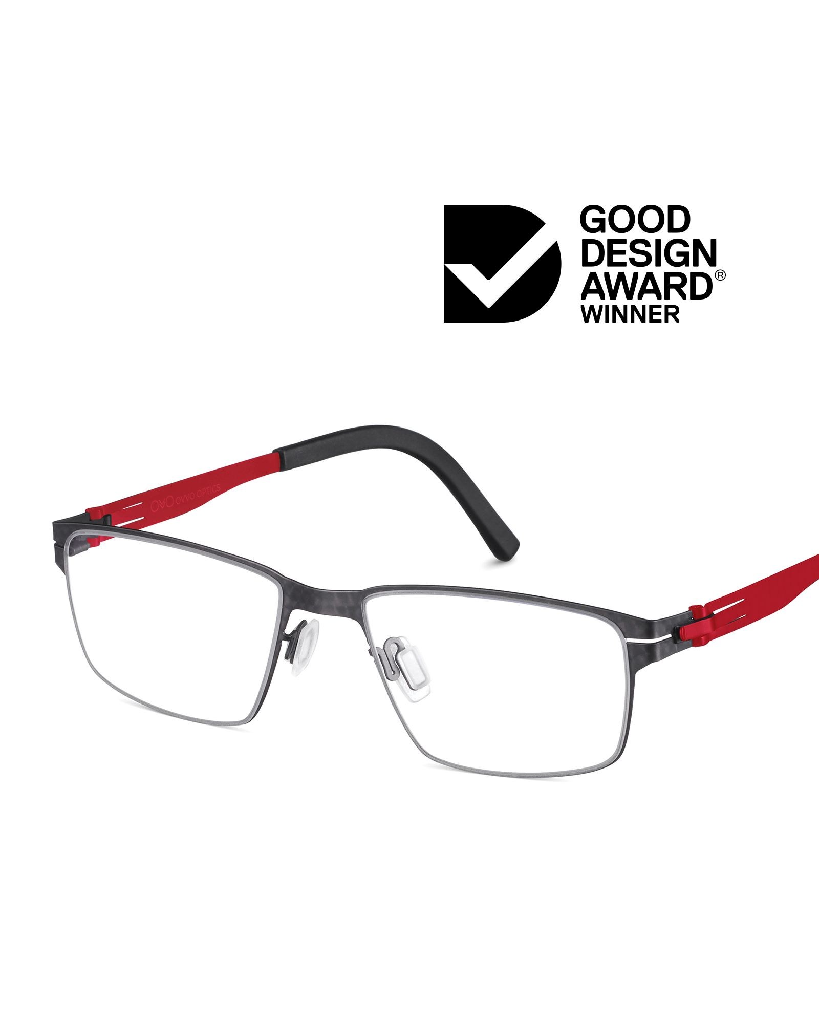 OVVO's Junior Collection is the proud recipient of one of Australia's most esteemed honors, the 2020 Good Design Award. Style Matty in black pattern with red temples celebrates the playful possibilities of design and innovation crafted from spacecraft surgical steel and titanium #OVVOoptics #JuniorCollection #ChildrensEyewear #GoodDesignAus #GoodDesignAustralia #gooddesignawards #designawards