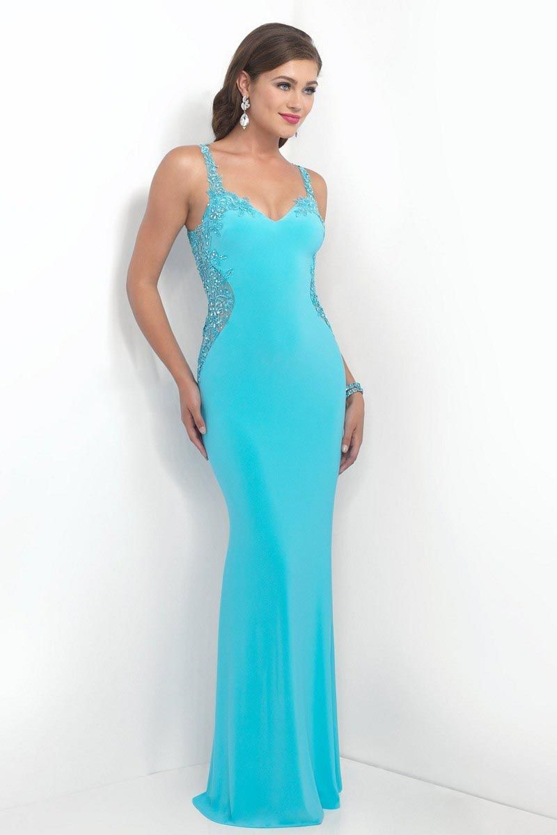 Seductively slinky, the Blush Intrigue 156 full-length prom dress ...